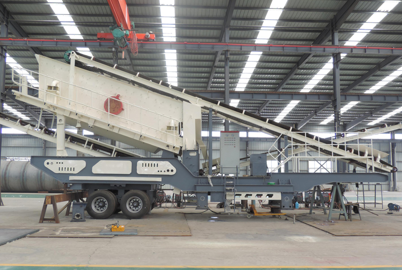 tire type mobile crusher